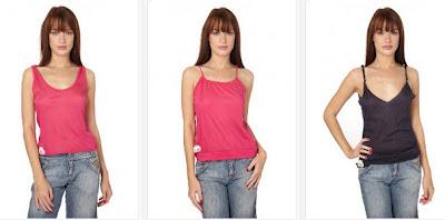 Camisetas de tirantes fucsia y otros colores