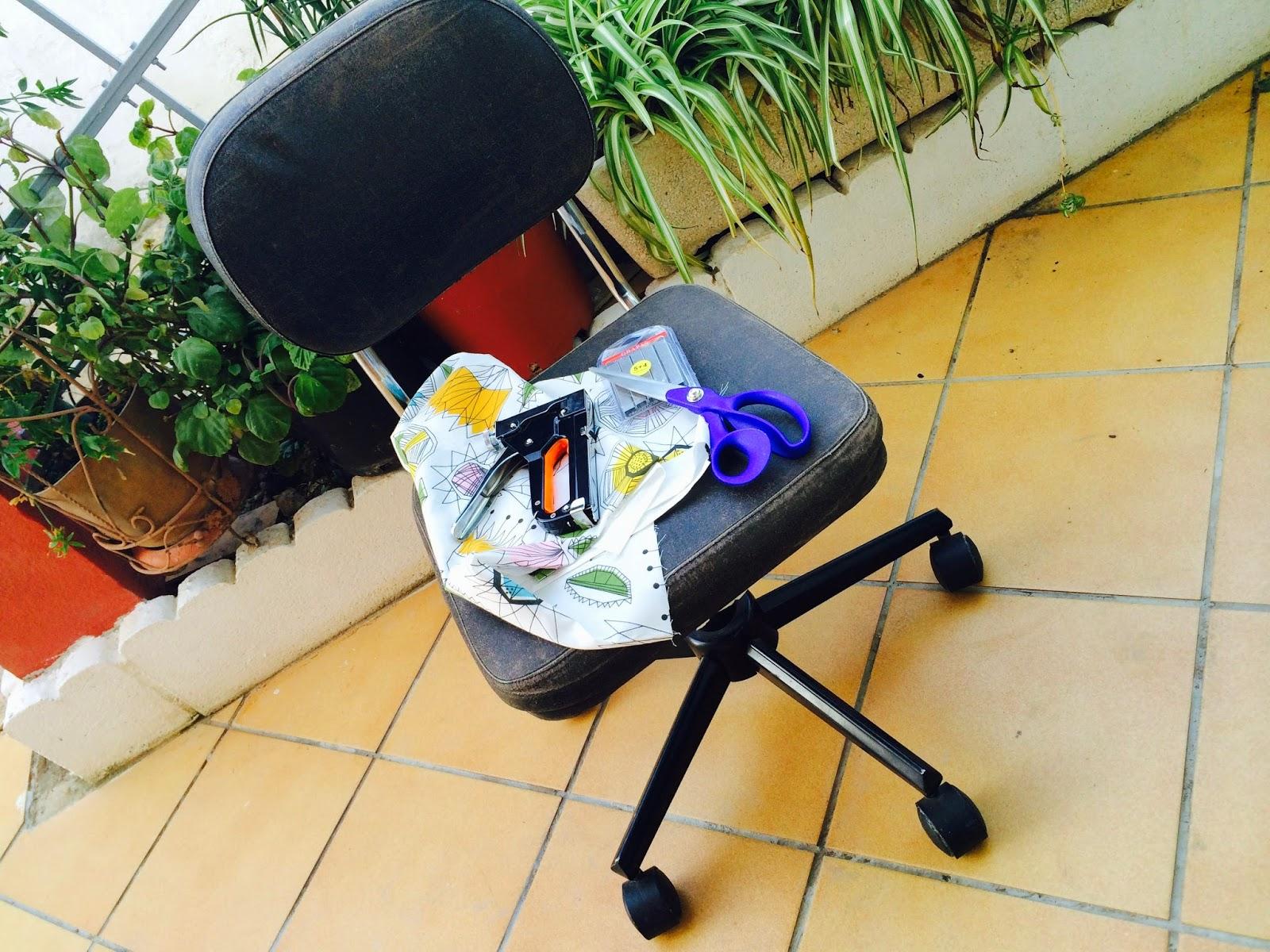 El blog de Lorenna: Tapizar silla despacho