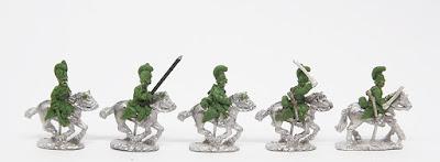 Jager zu Pferd - 3 x command / 2 x troopers: