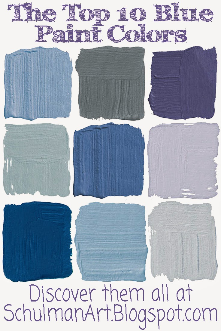 Art Blog For The Inspiration Place 10 Best Blue Paint Colors For Your Home