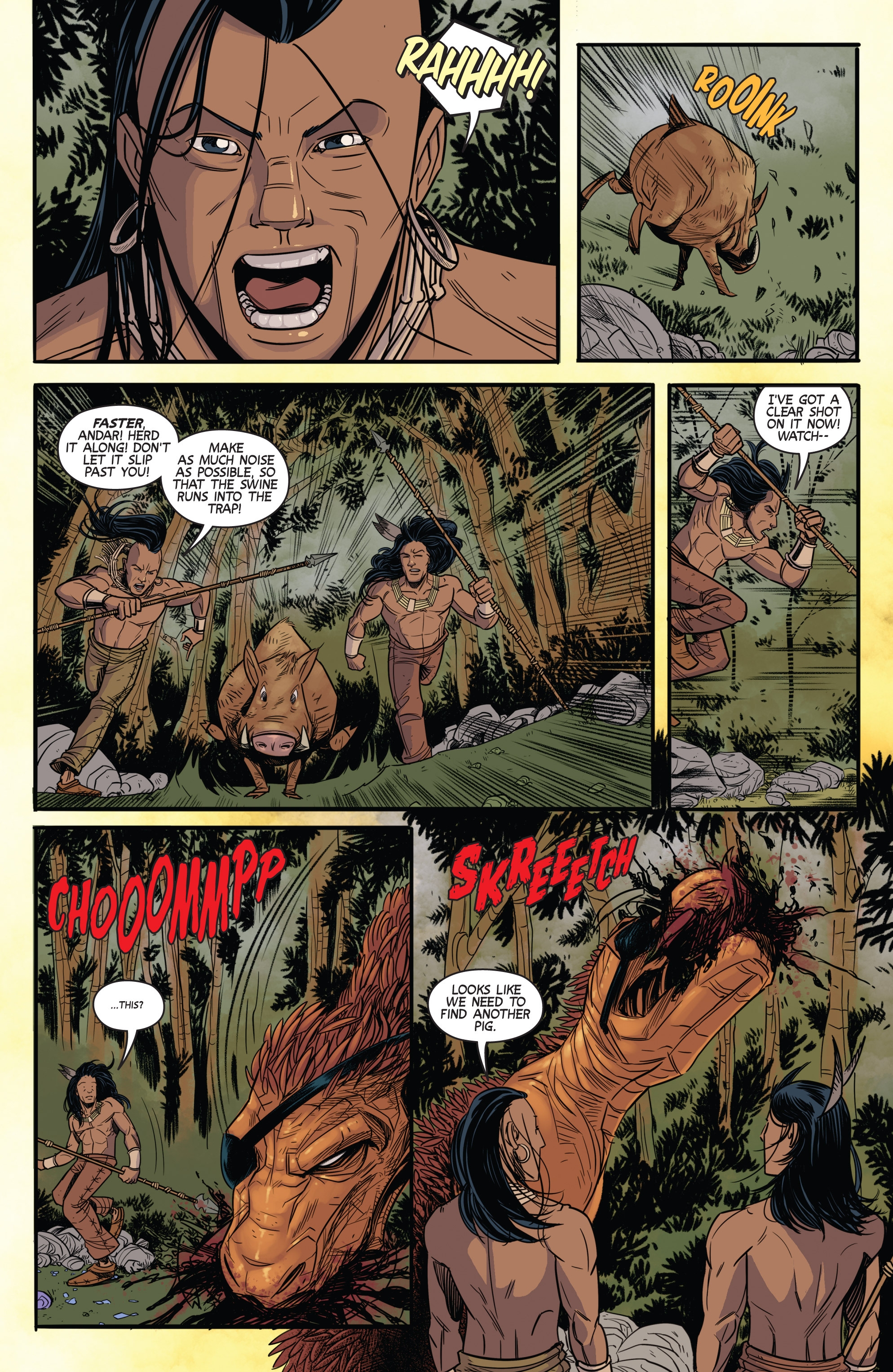 Read online Turok: Dinosaur Hunter (2014) comic -  Issue # _TPB 3 - 61