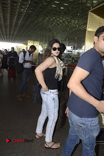 Bollywood Actress Zareen Khan Pictures in Jeans at Mumbai Airport  0005.jpg