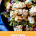 Sheet Pan Balsamic Basil Chicken Cauliflower Rice Bowl (Whole30, Dairy Free, and Gluten Free)