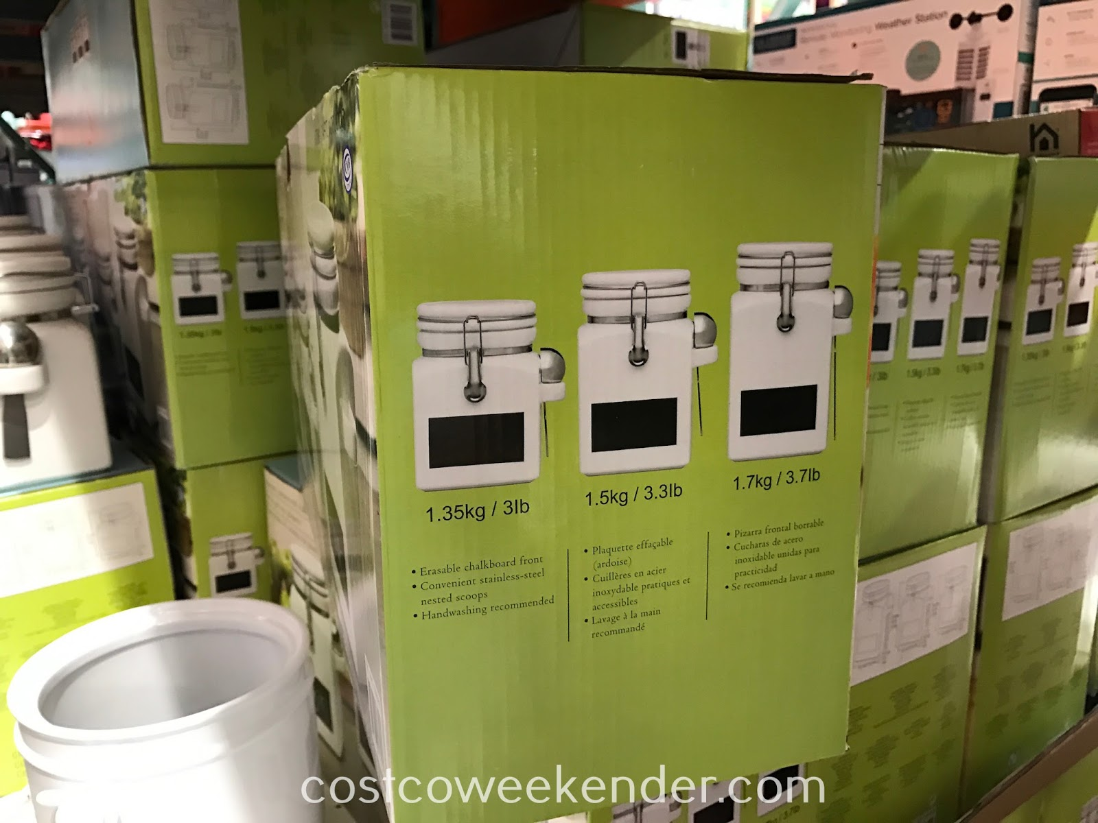 Stoneware Canisters with Chalkboard (3-piece) | Costco Weekender