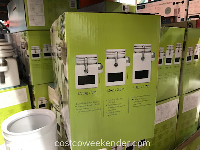 Costco 1050008 - Stoneware Canisters with Chalkboard: get your kitchen organized today!