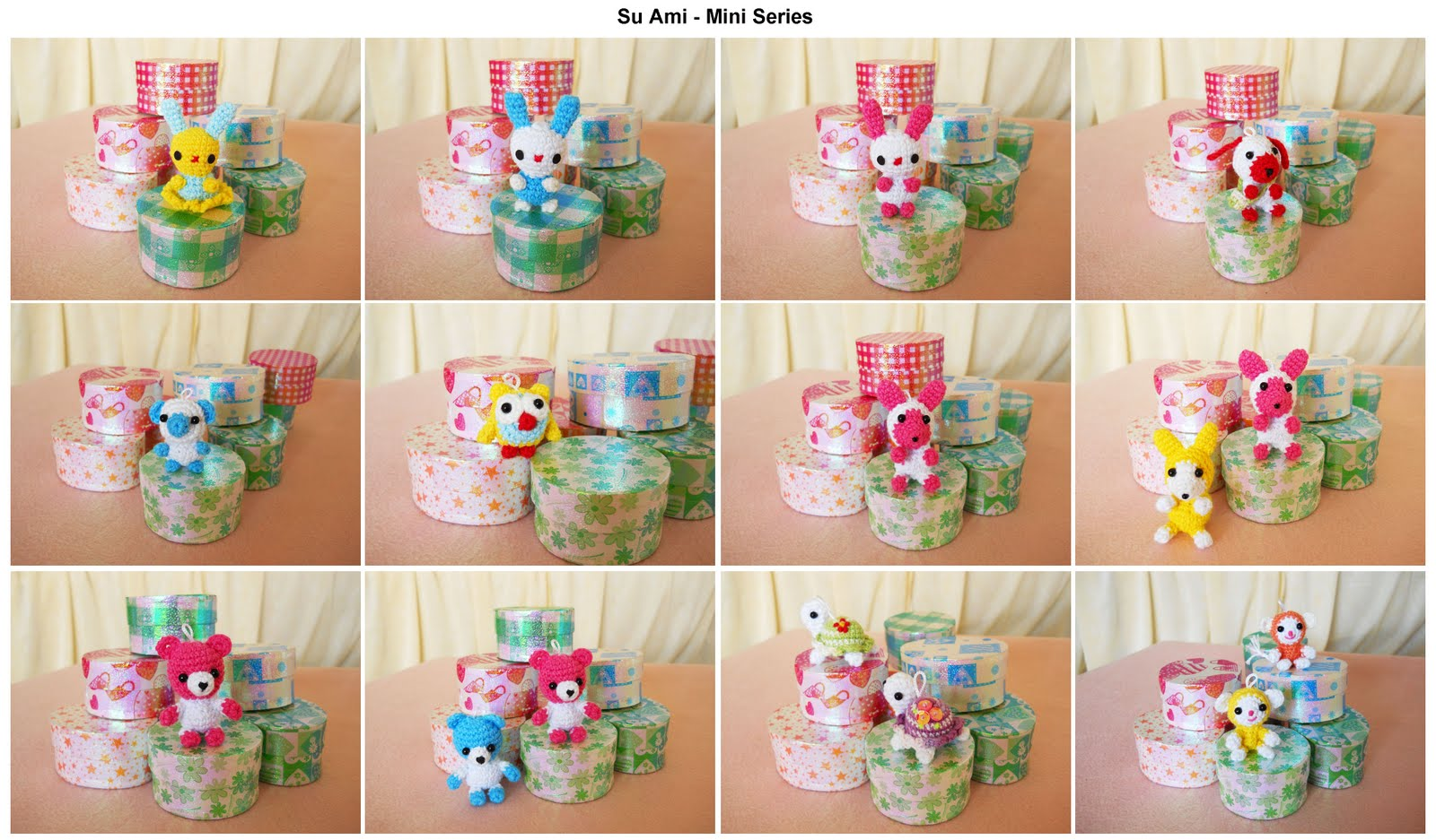 Su Ami cute animal gifts collectible toys doll crochet miniatures
