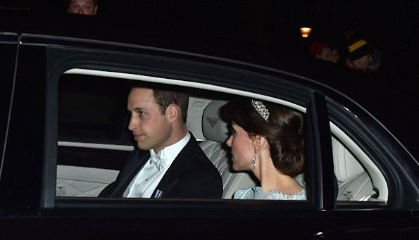Kate Middleton, The Duchess chooses Cambridge Lover's Knot tiara for glittering white tie Diplomatic Reception at Buckingham Palace