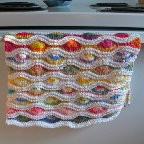 Lizard Ridge Dishcloth - Free Pattern