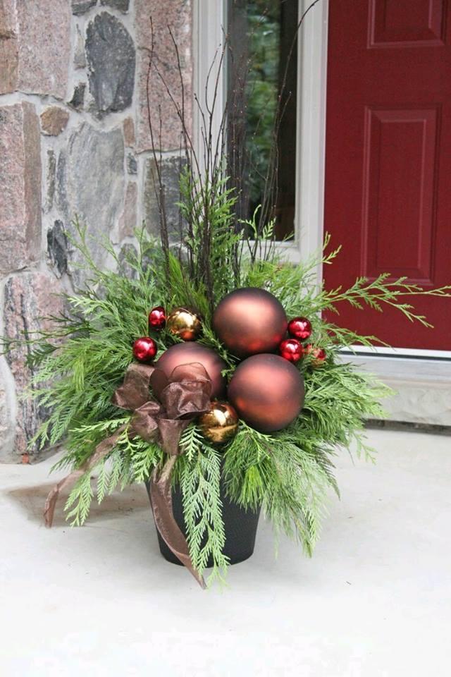 M s y m s manualidades hermosas decoraciones navide as - Decoracion navidena para exteriores ...