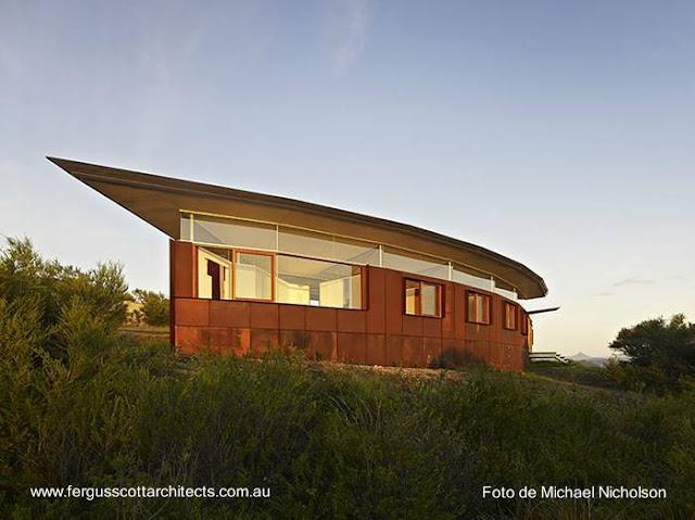 Vivienda de diseño contemporáneo en área rural de Australia