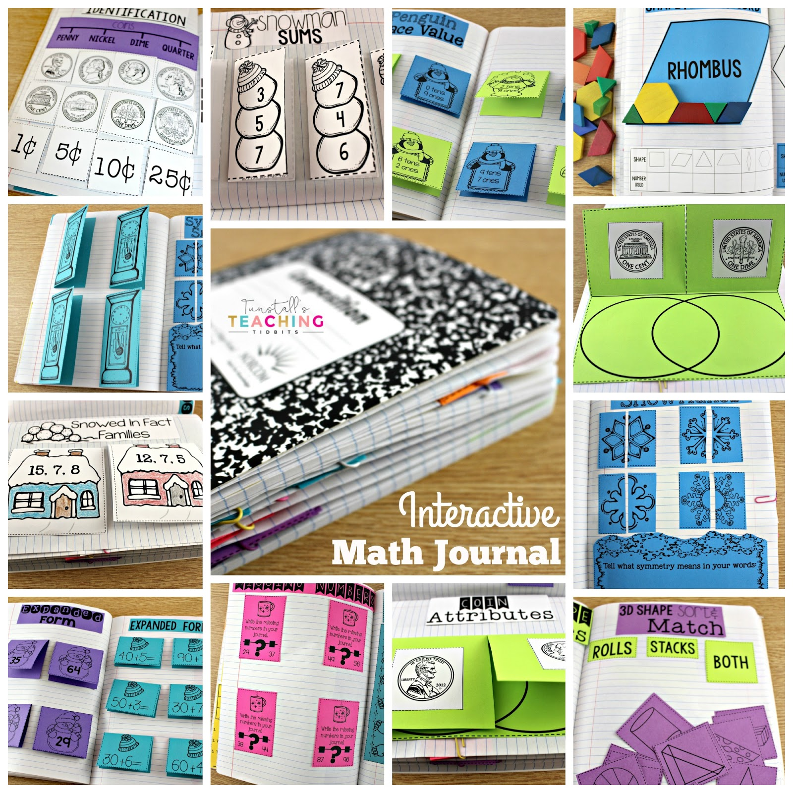 Math Journals For First Grade - Tunstall's Teaching Tidbits [ 1600 x 1600 Pixel ]