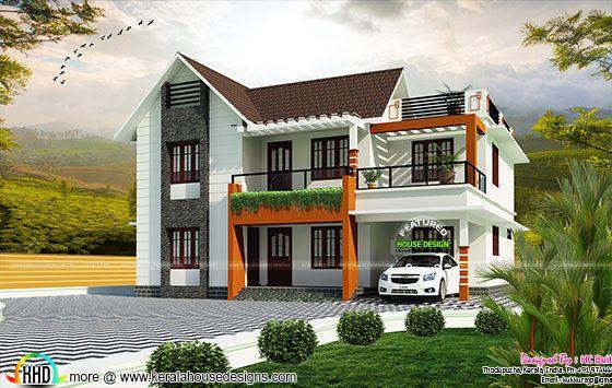 1800 sq-ft 2 floor house plan