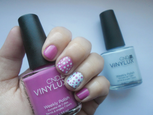 how to paint nails polka dots
