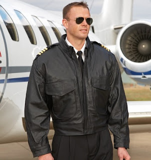 Model Jaket Kulit Pilot Original Airlines