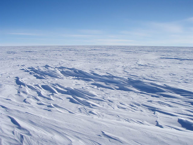 Snow and ice, frozen tundra wasteland Antarctica
