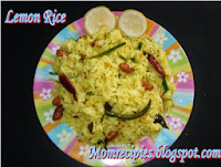 http://www.momrecipies.com/2008/08/lemon-rice-nimmakaya-pulihora.html
