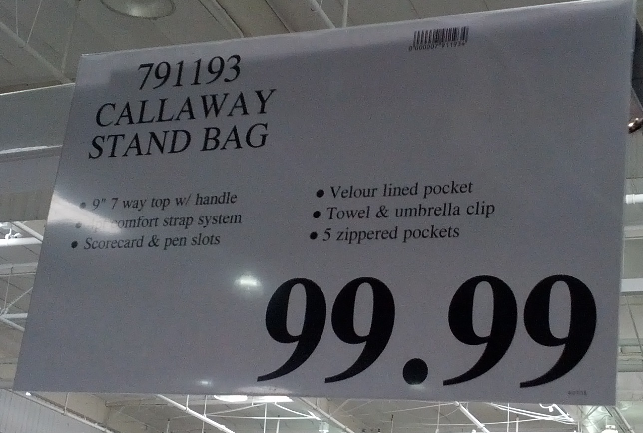 Deal For Callaway Xtreme Stand Golf Bag