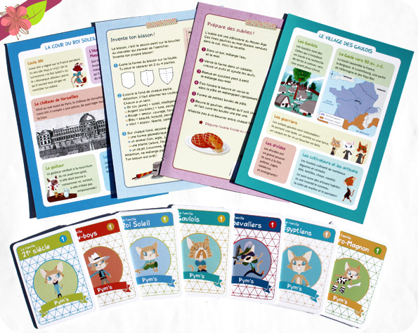Les Chabadas dans l'Histoire - Le jeu des 7 familles de Daniel Picouly et Colonel Moutarde - Belin Jeunesse