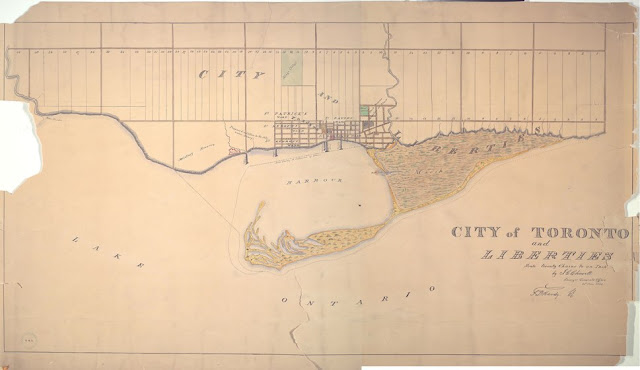 1834 Plan of the City of Toronto and Liberties, by JG Chewett