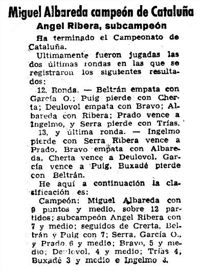 Recorte de Mundo Deportivo del 30 de mayo de 1958