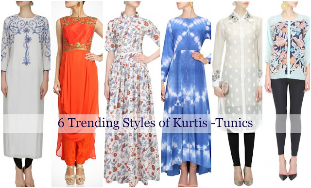 latest kurtis for women, new styles of tunics, trends of kurtis, online latest kurtis
