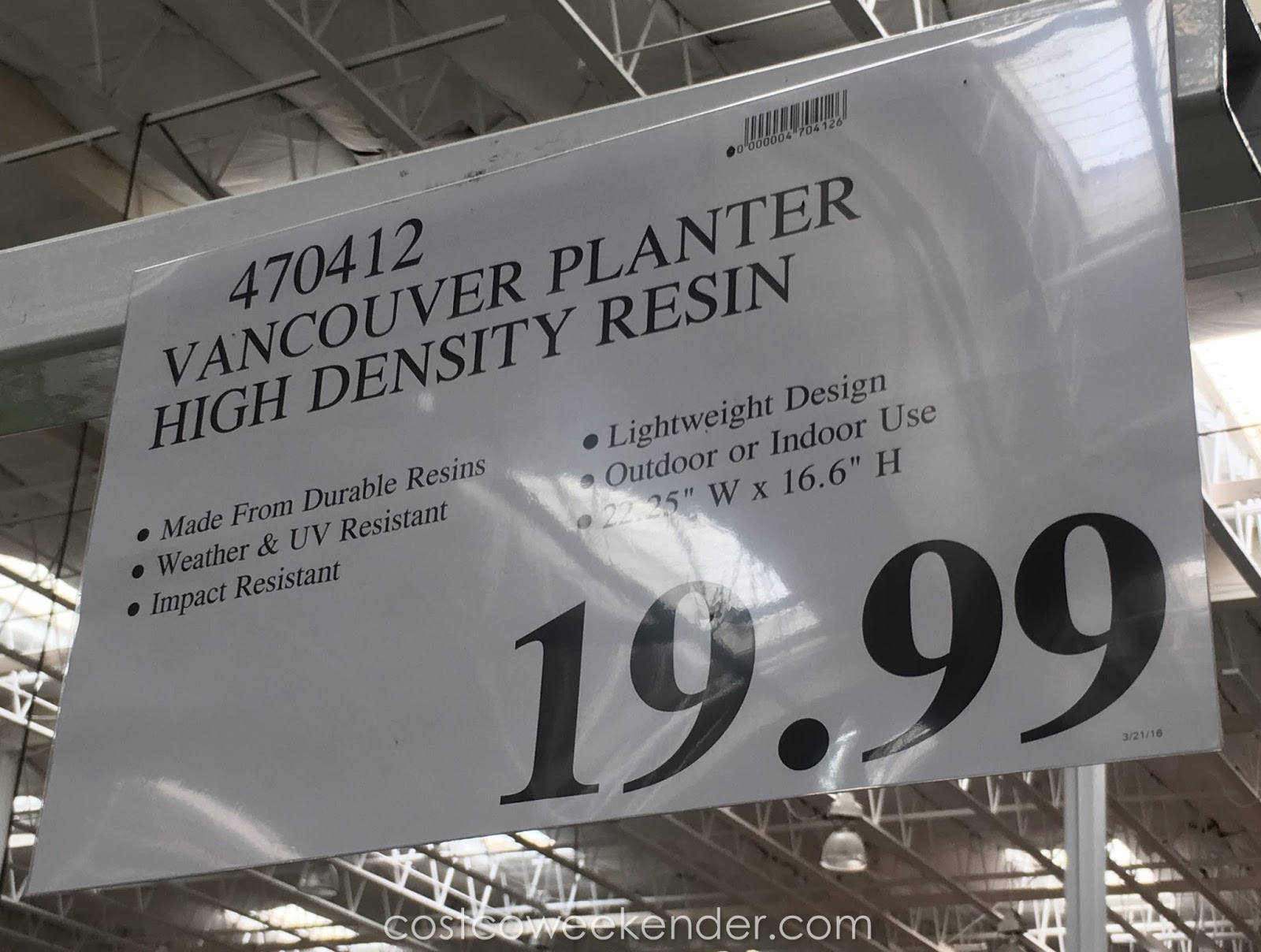 Deal for the Southern Patio Vancouver HDR Planter at Costco & Southern Patio Vancouver HDR Planter | Costco Weekender
