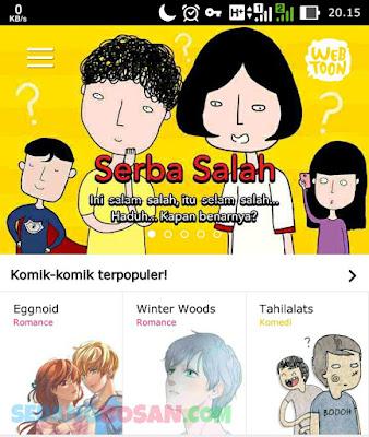 Cara Login atau Masuk di Aplikasi LINE Webtoon
