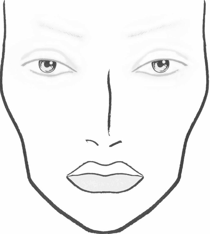 Diy Blank Makeup Face Charts