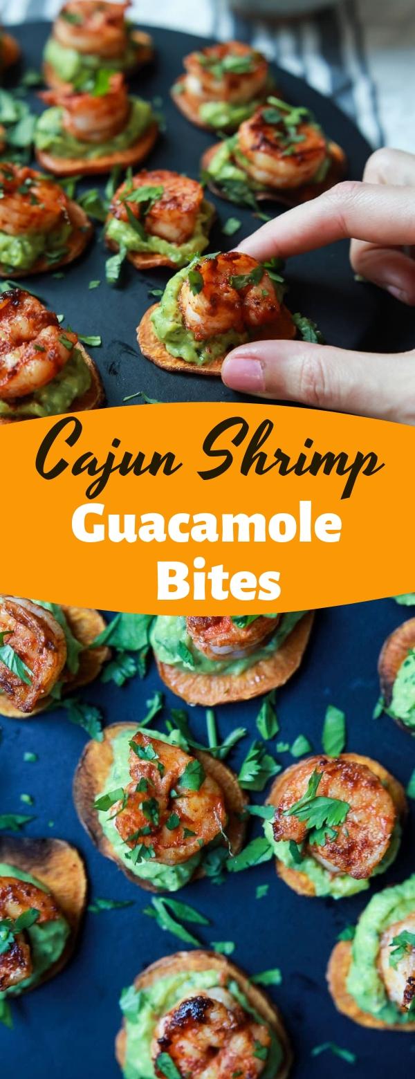 Cajun Shrimp Guacamole Bites #shrimp #appetizer