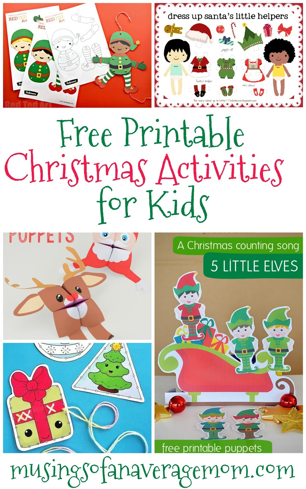 photograph relating to Printable Christmas Activities known as Musings of an Regular Mother: No cost Young children Xmas actions