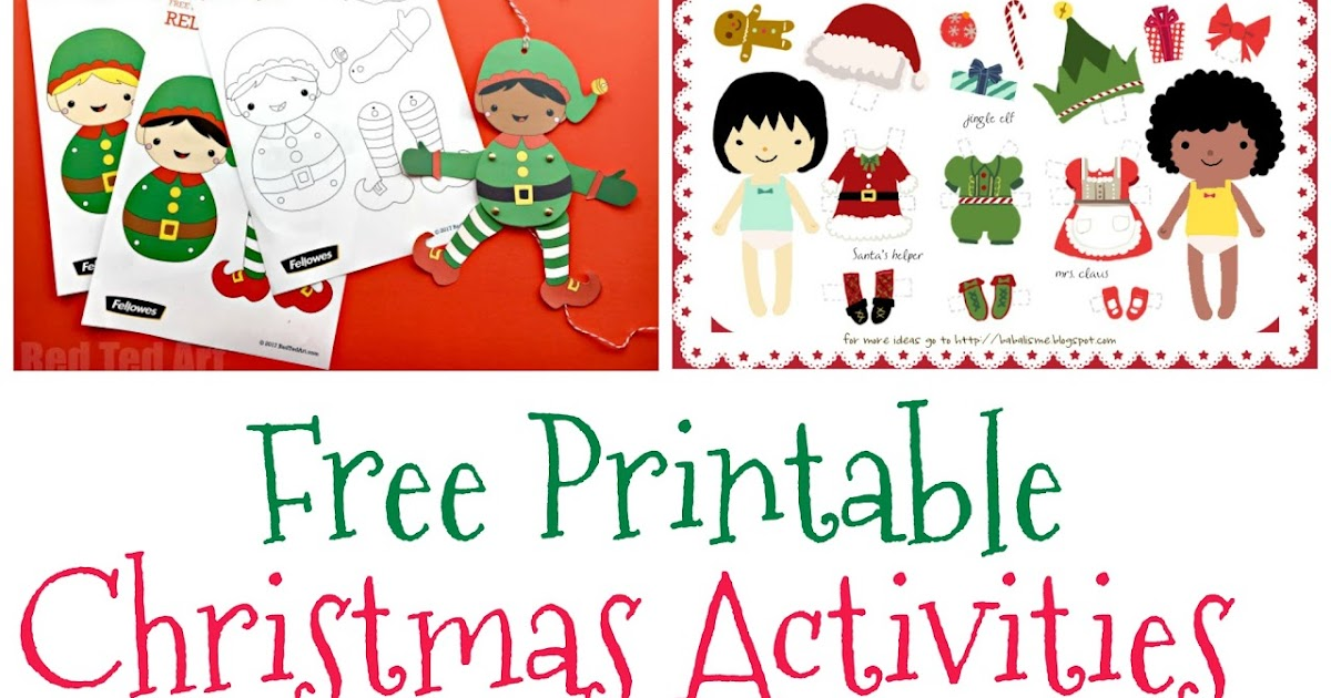 photograph regarding Free Printable Christmas Activities known as Musings of an Common Mother: Free of charge Children Xmas actions