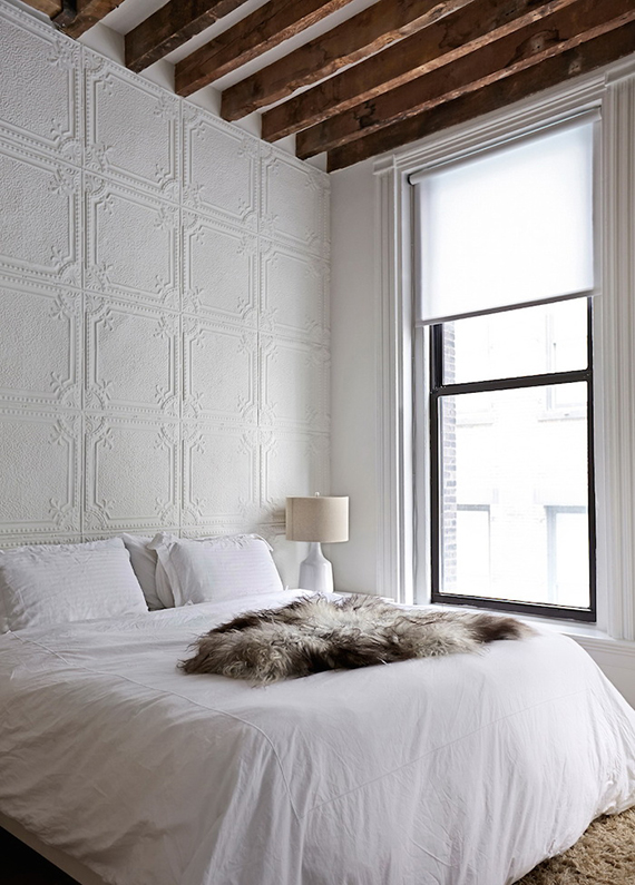 Sophisticated elegant bedroom in Tribeca loft | Image by Laura Moss for NY Times