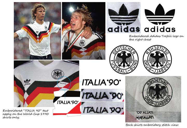 af57e6997 Kohler is member of the German team that won the World Cup 1990. Features  with embroidered DFB emblem