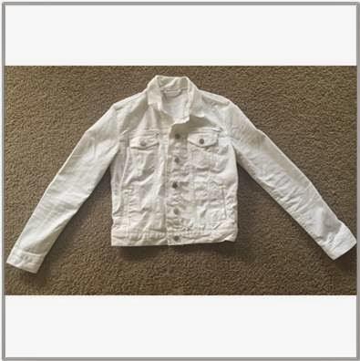 The Gap Ladies White Denim Jacket