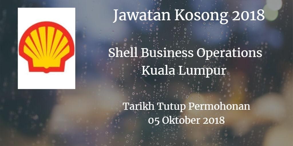 Jawatan Kosong Shell Business Operations Kuala Lumpur 05 Oktober 2018