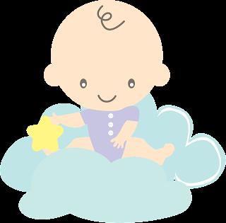 bebé en nube para imprimir