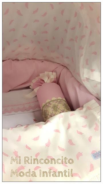 Capazo Bebecar IpOp personalizado en rosa
