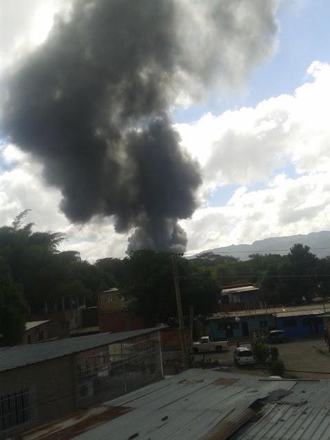 Se produjo incendio en planta de llenado de Pdvsa en Guatire