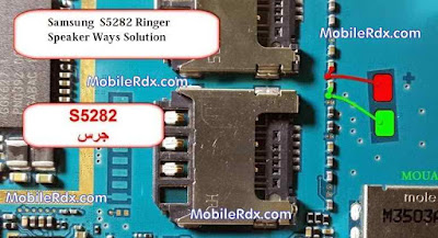 Samsung S5282 Ringer Speaker problem solution. if change speaker this phone is not ok. check this line use avo miter. change this resistor or connect this........don't forget like and share with your friends. thanks for visit our site.