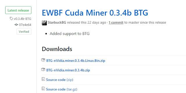 Đào Bitcoin gold bằng card nvidia
