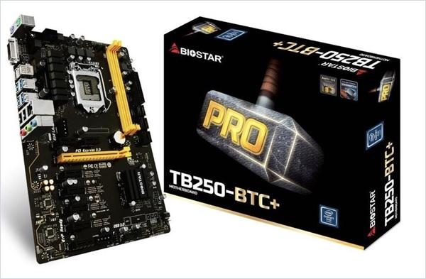 BIOSTAR TB250 BTC 8 GPU SUPPORT LGA1151 Intel