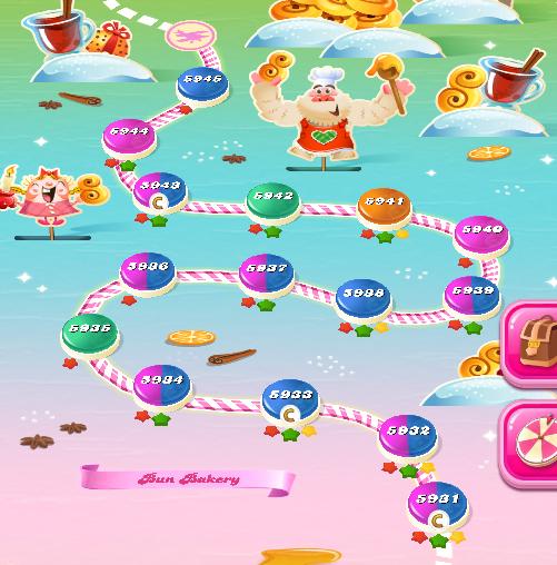 Candy Crush Saga level 5931-5945
