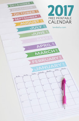 colorful 2017 calendar
