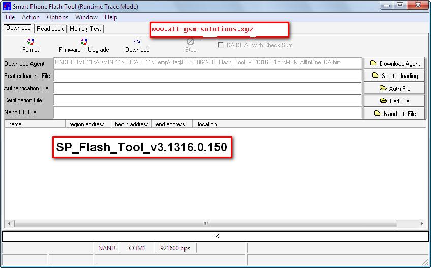 SP Flash Tool v3.1316.0.150