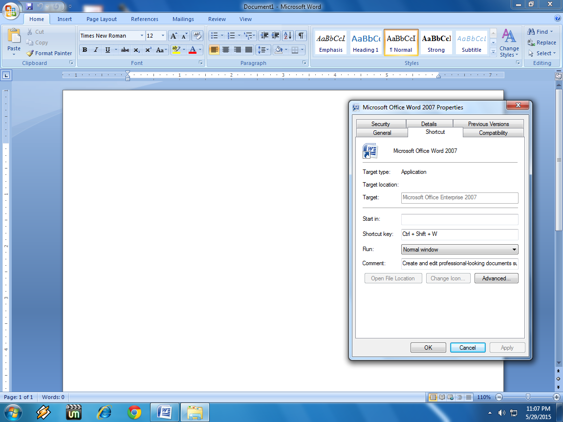 Learn New Things Shortcut Key To Open Microsoft Word Ms