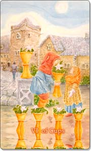 Six of Cups, www.aquatictarot.de