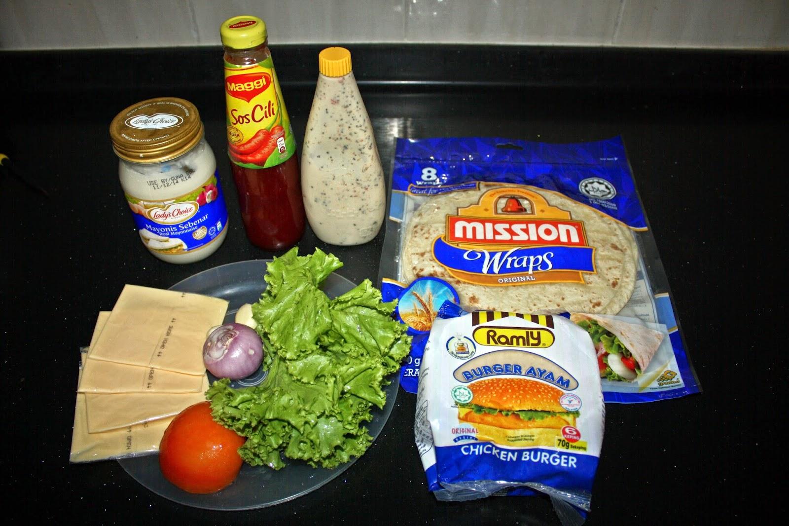 i'm shin.. i'm inesen: cerita ari ke 9 puasa : Tortilla Chicken Wrap