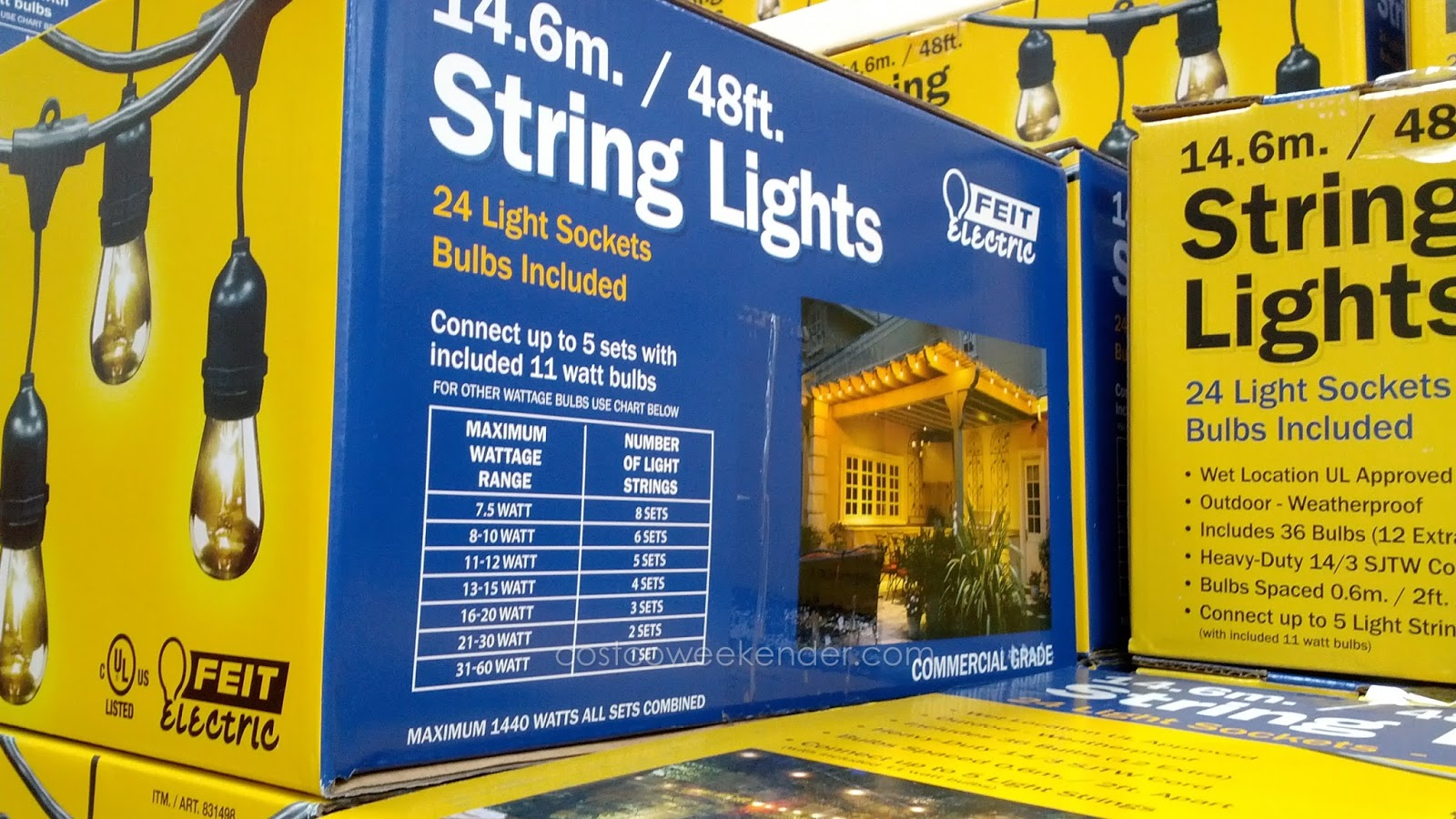 Feit 48 Ft Outdoor String Lights To Light Up Your Area