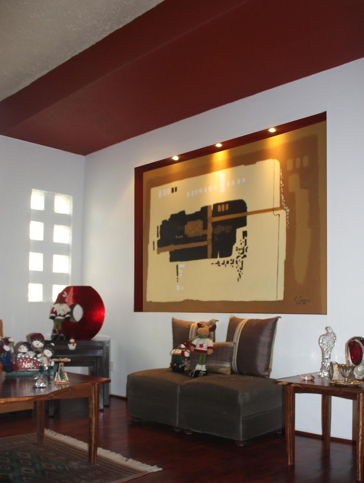 Plafones decorativos de tablaroca iluminaci n con focos for Modelos de techos para galerias