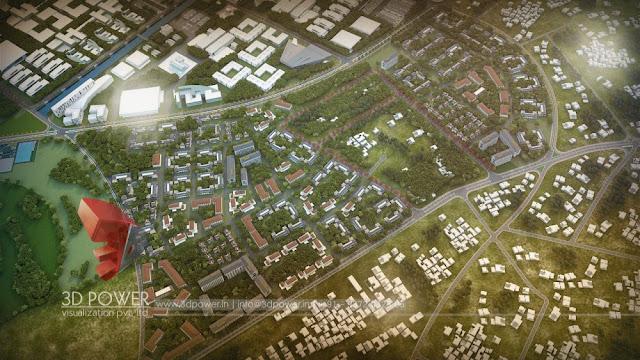 3D Architectural Visualization of Dholera Smart City